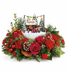Flower Bouquets: Thomas Kinkade's Festive Moments Bouquet