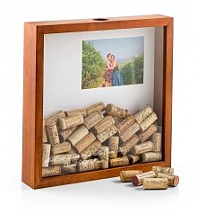 Personalized Keepsake Gifts: Mom's Wine Cork Keeper Shadow Box
