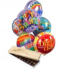 Balloons & Chocolate: Birthday Balloons & Chocolate-6 Mylar
